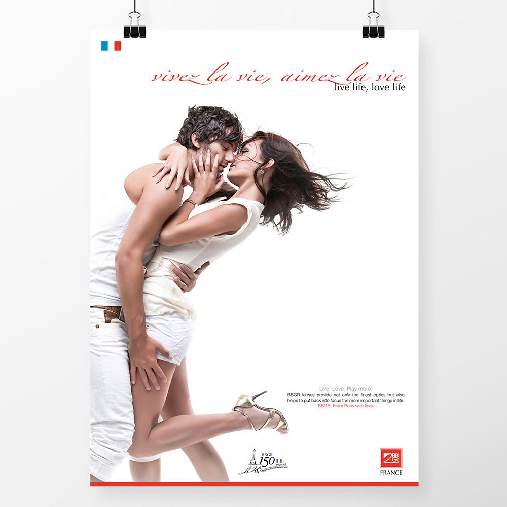 BBGR Paris with love campaign poster