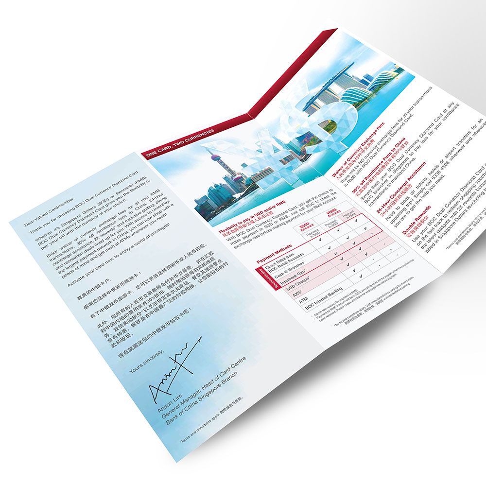BOC Singapore Dual Currency DL brochures