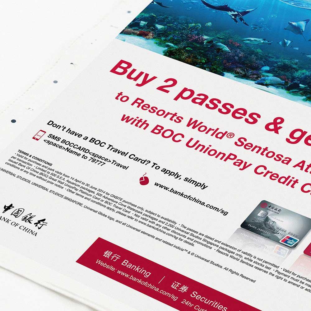 BOC SG RWS Resort World Sentosa Ads promotion