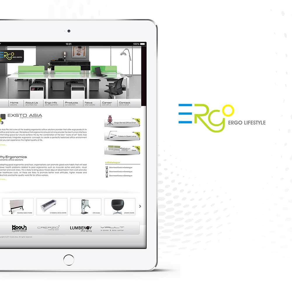 Exsto Asia Ergonomic office solution website