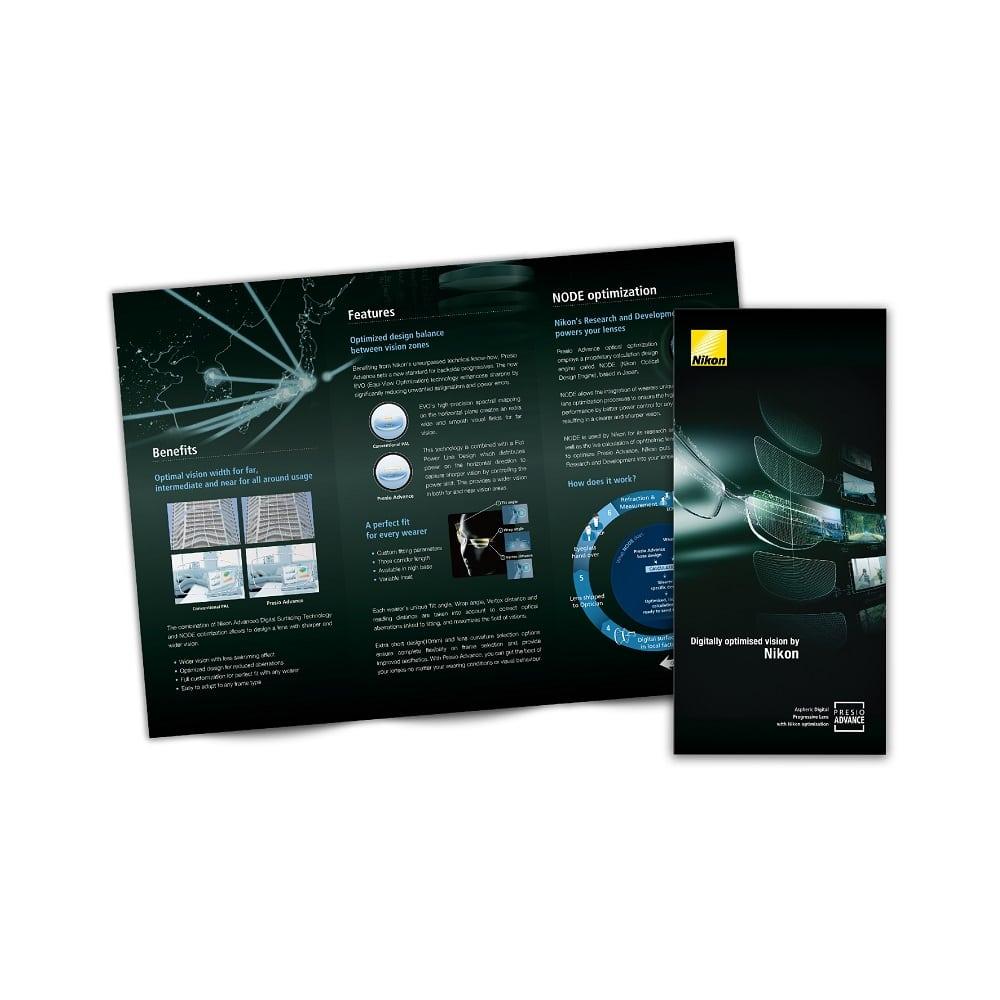 Nikon Lenswear Brochures design
